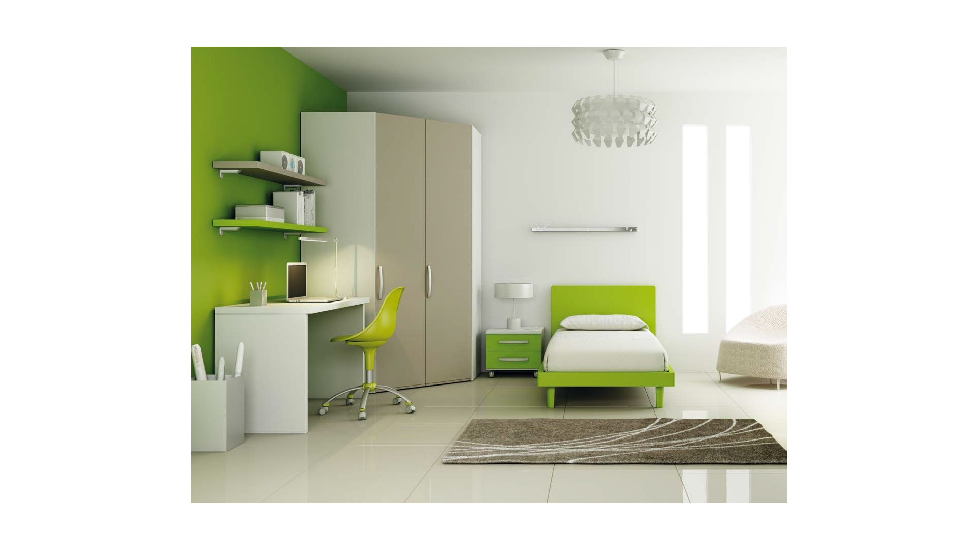 lit 1 personne ensemble tr s moderne fun moretti. Black Bedroom Furniture Sets. Home Design Ideas