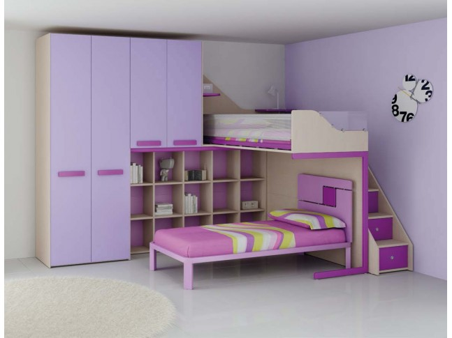 lit mezzanine pour enfant mi hauteur avec bureau. Black Bedroom Furniture Sets. Home Design Ideas