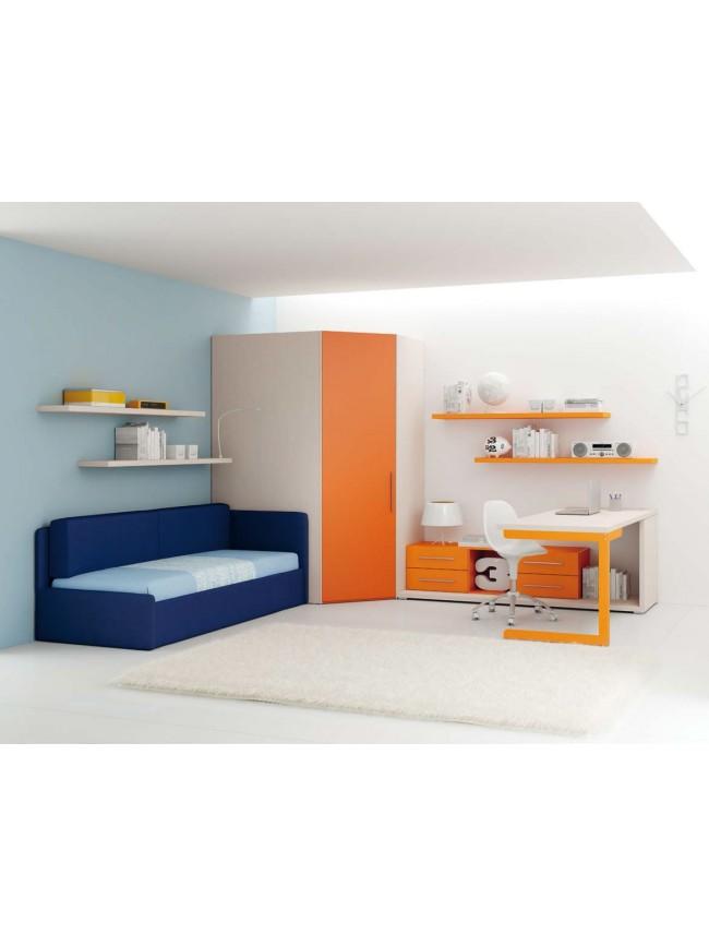 Chambre enfant avec lit canap lit gigogne moretti - Canape lit gigogne adulte ...