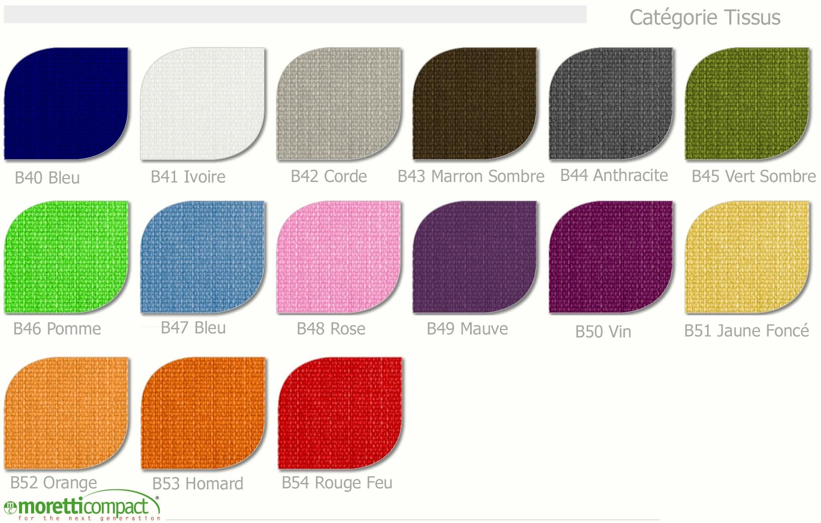 Lit canap recouvert de tissu couleur bleu moretti compact so nuit - Les couleurs de tissus ...