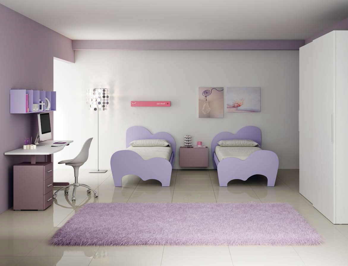 Chambre double enfant PERSONNALISABLE LH35 - MORETTI COMPACT