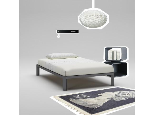 Lit ado PERSONNALISABLE WL080 de 120 x 200 couleur graphite - MORETTI COMPACT