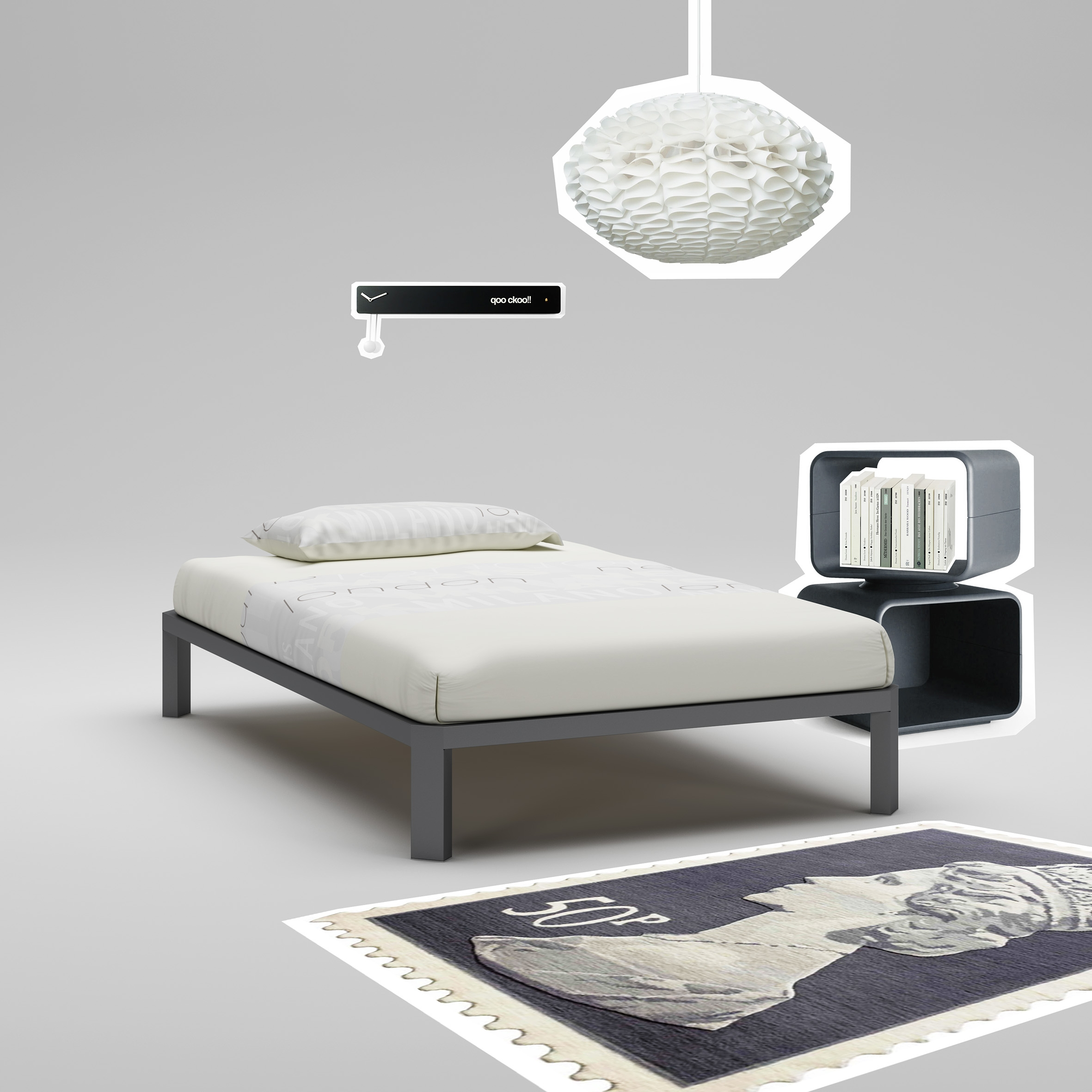 lit ado couleur graphite moderne et fun moretti compact so nuit. Black Bedroom Furniture Sets. Home Design Ideas
