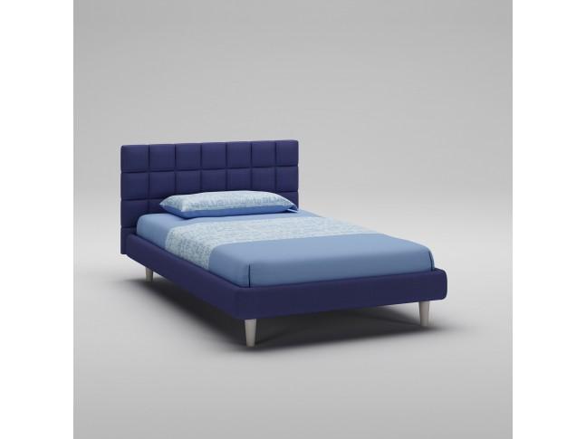 Lit ado PERSONNALISABLE WL099 entièrement rembourré en tissu couleur bleu - MORETTI COMPACT