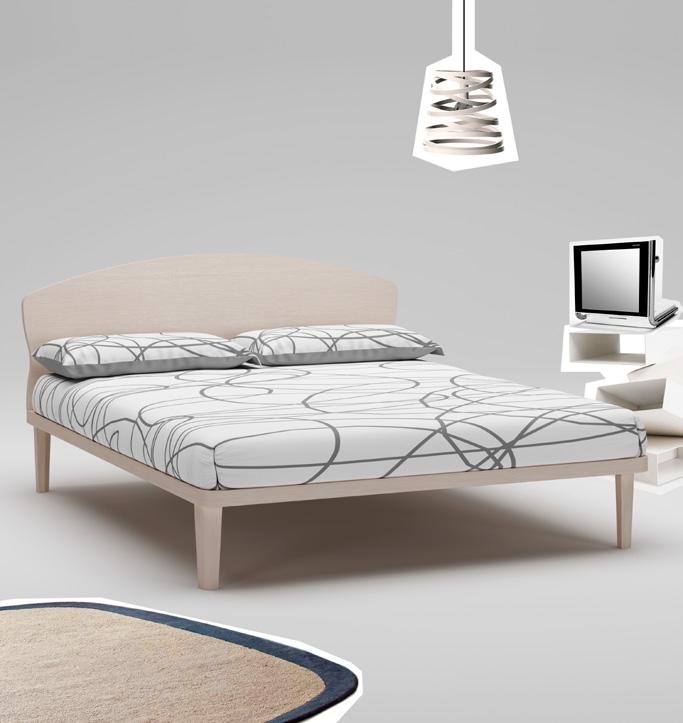 Lit double PERSONNALISABLE WL107 couleur mélèze avec couchage de 160 x 200 - MORETTI COMPACT