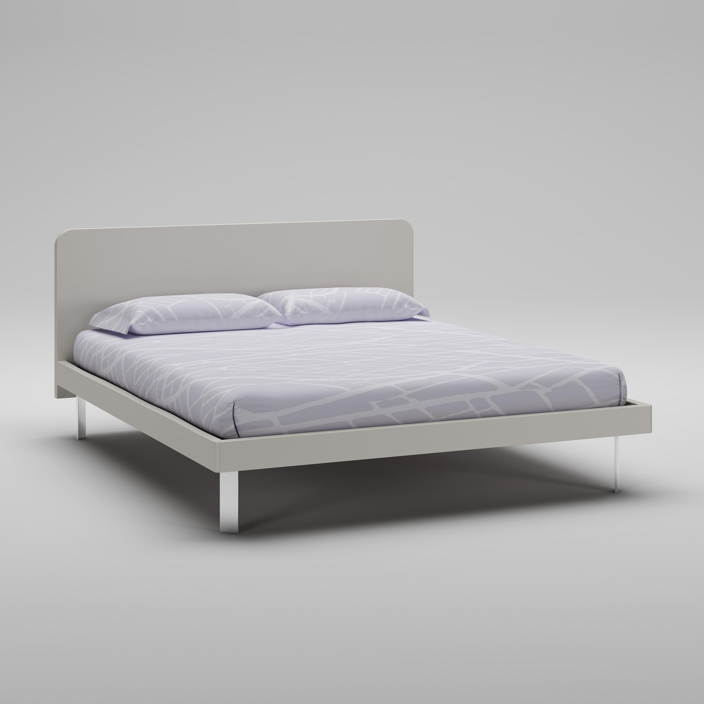 lit adulte personnalisable wl112 laqu mat avec couchage de 160 x 200 moretti compact - Lit Adulte 160x200