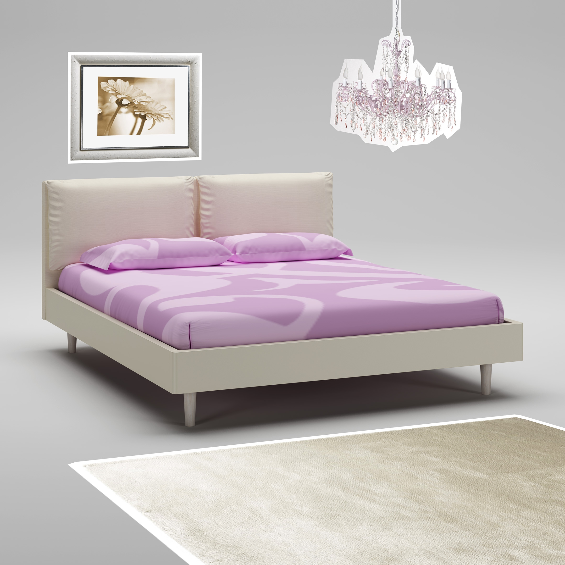 lit adulte cadre t te de lit ivoire moretti compact. Black Bedroom Furniture Sets. Home Design Ideas