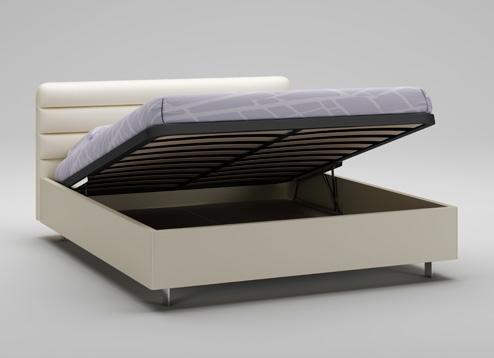 lit coffre t te de lit sable cadre ivoire moretti compact so nuit. Black Bedroom Furniture Sets. Home Design Ideas