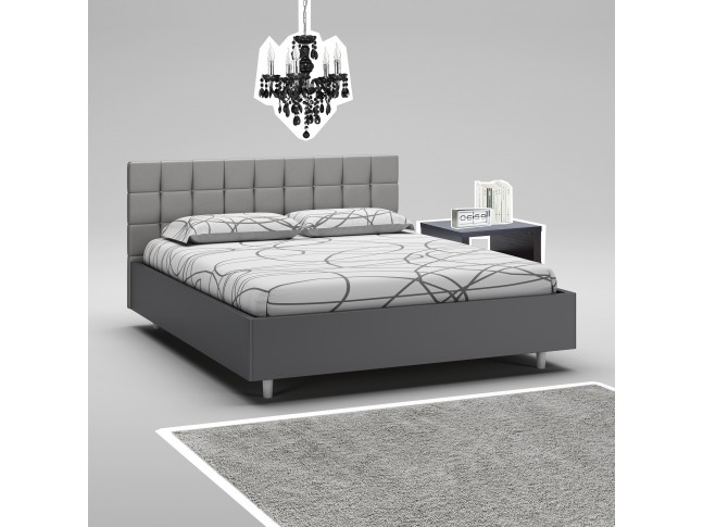 lit 160x200 cadre de lit couleur corde moretti compact. Black Bedroom Furniture Sets. Home Design Ideas