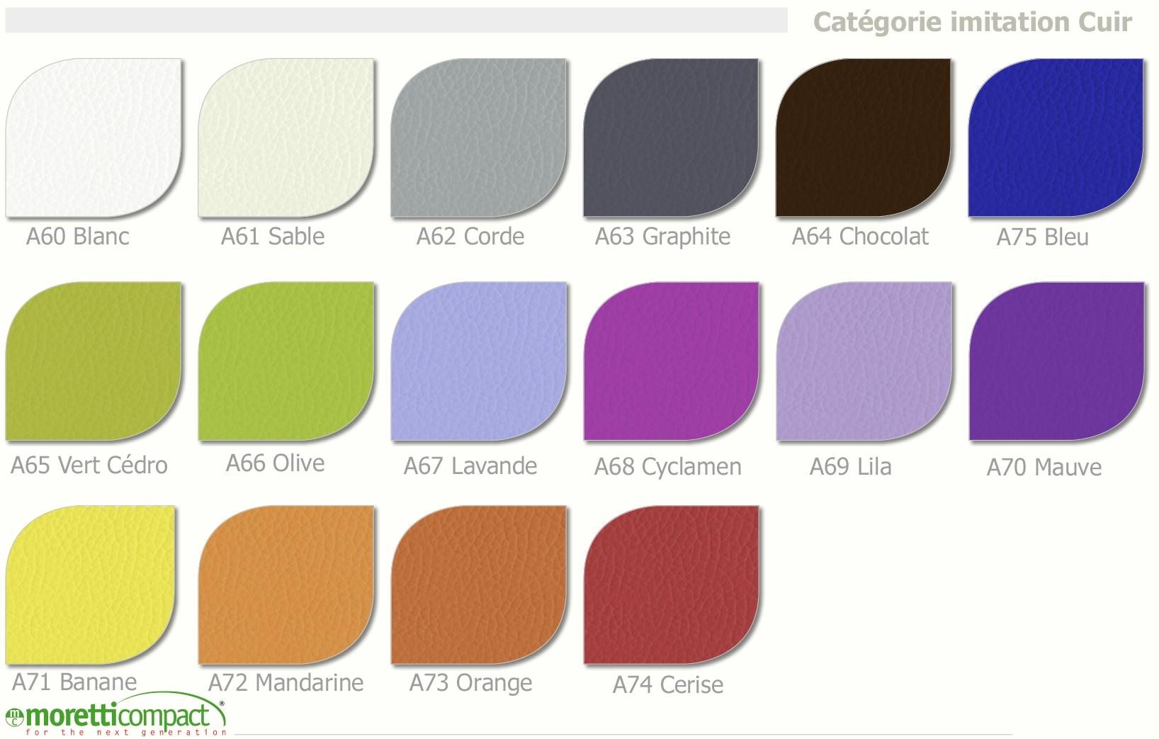 Lit X Tête De Lit Cadre Graphite MORETTI COMPACT SO NUIT - Cadre de lit simili cuir