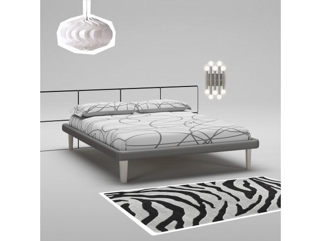 Lit 160x200 PERSONNALISABLE WL123 avec cadre de lit imitation cuir - MORETTI COMPACT