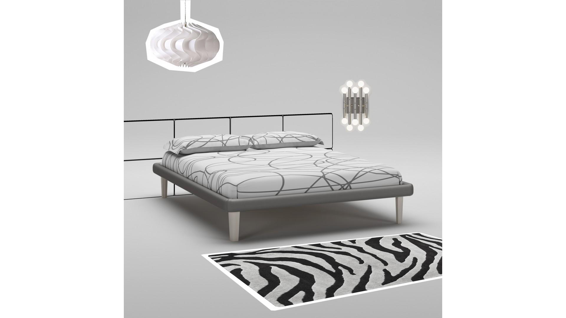 Lit 160x200 PERSONNALISABLE WL123 avec cadre de lit laqué mat - MORETTI COMPACT