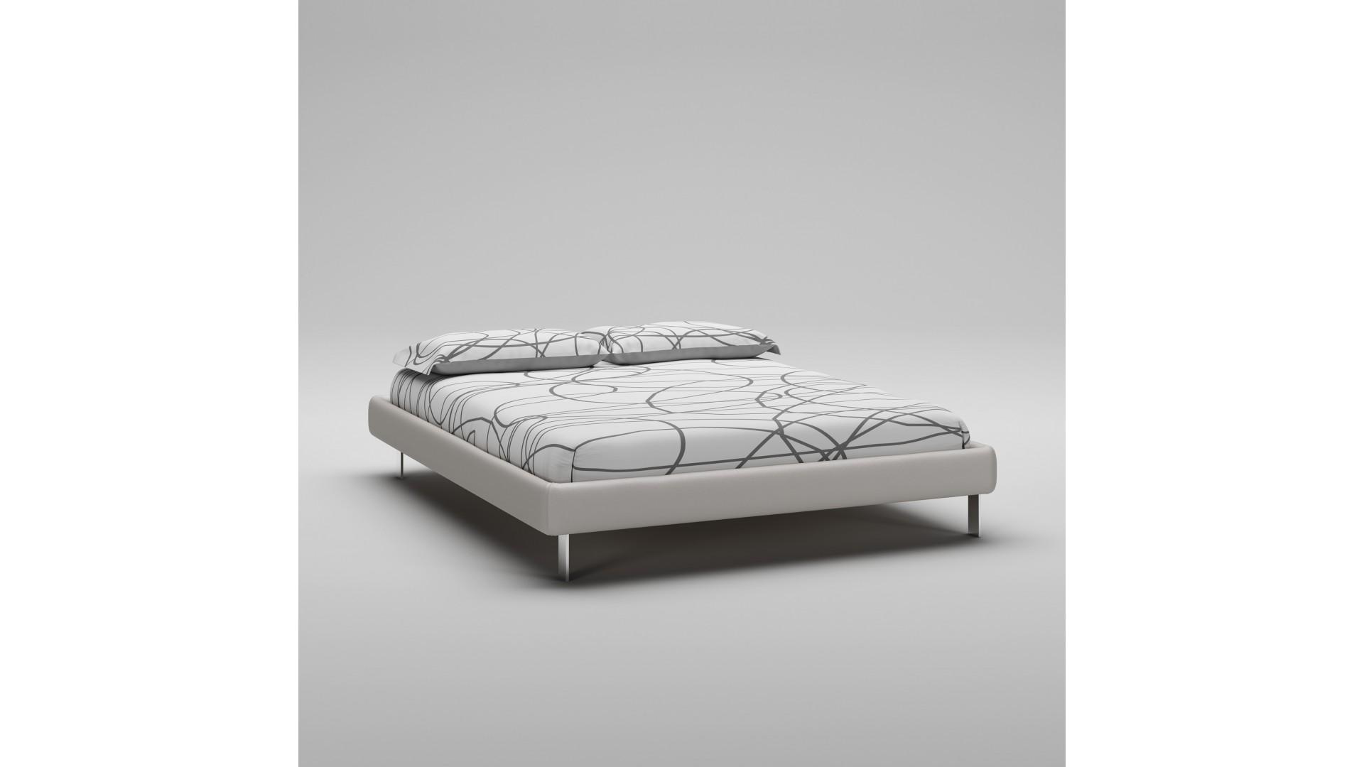 Lit 160x200 PERSONNALISABLE WL125 avec cadre de lit imitation cuir - MORETTI COMPACT