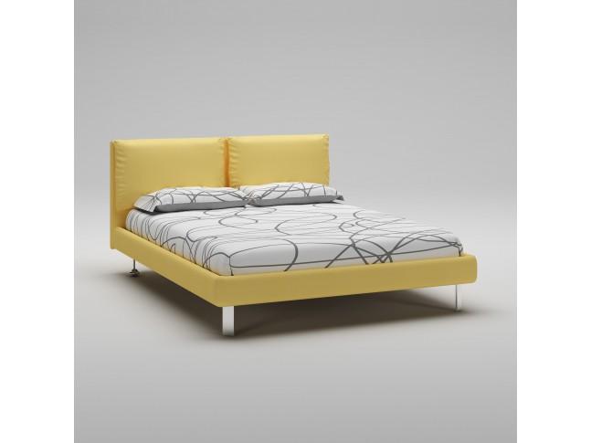Lit 160x200 PERSONNALISABLE WL128 avec cadre et tête de lit rembourrés - MORETTI COMPACT