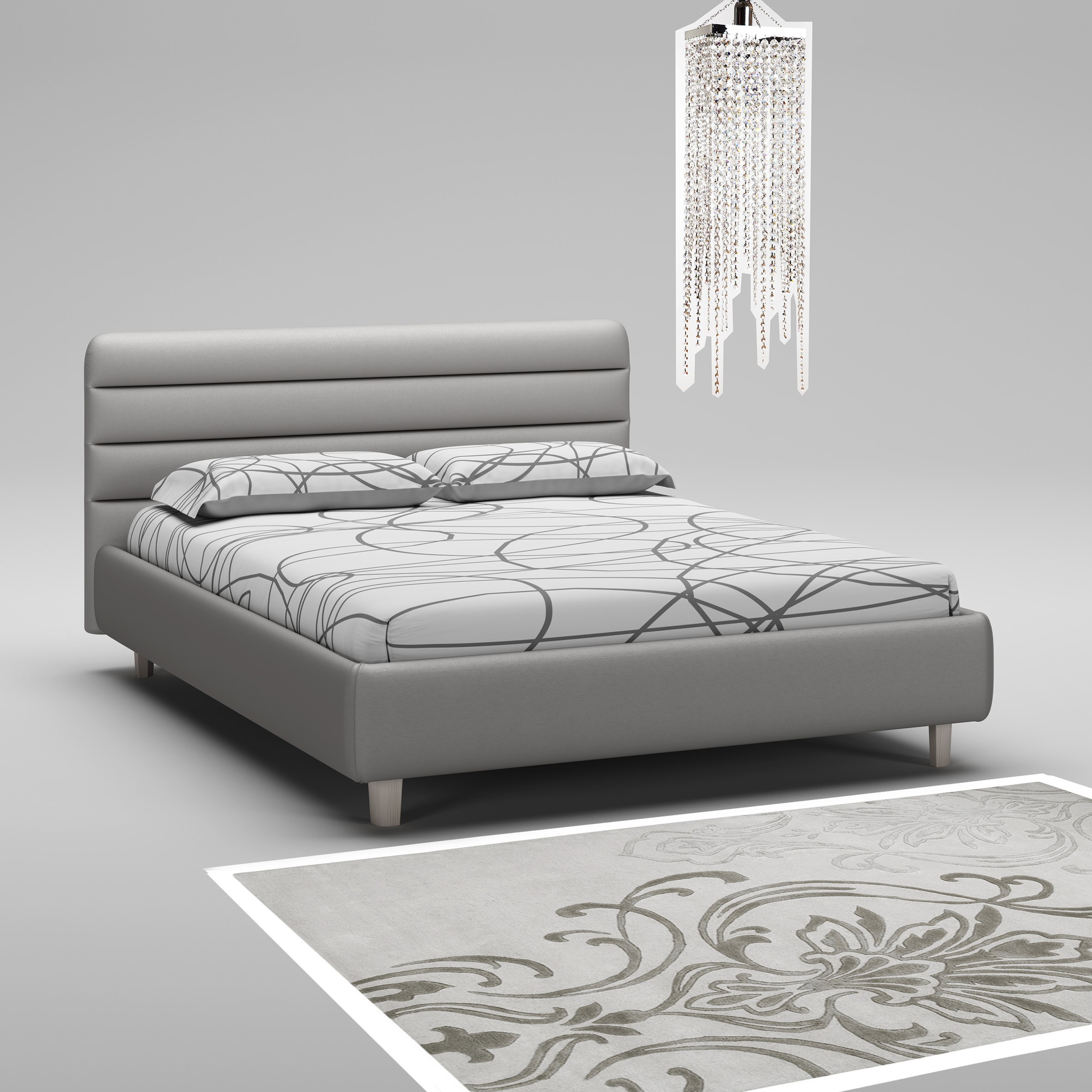 lit coffre t te cadre de lit graphite moretti compact so nuit. Black Bedroom Furniture Sets. Home Design Ideas