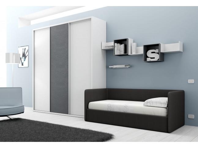Chambre PERSONNALISABLE BF34 avec lit canapé - MORETTI COMPACT