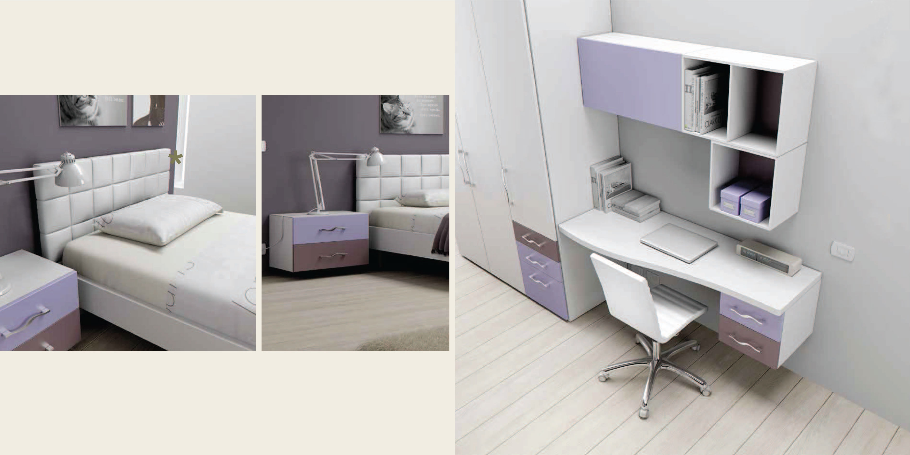 chambre enfant avec lit ado moretti compact so nuit. Black Bedroom Furniture Sets. Home Design Ideas