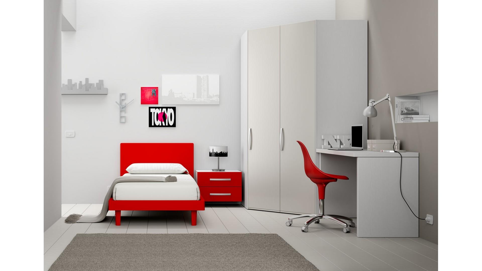 Chambre enfant PERSONNALISABLE BF39 avec lit 1 personne - MORETTI COMPACT