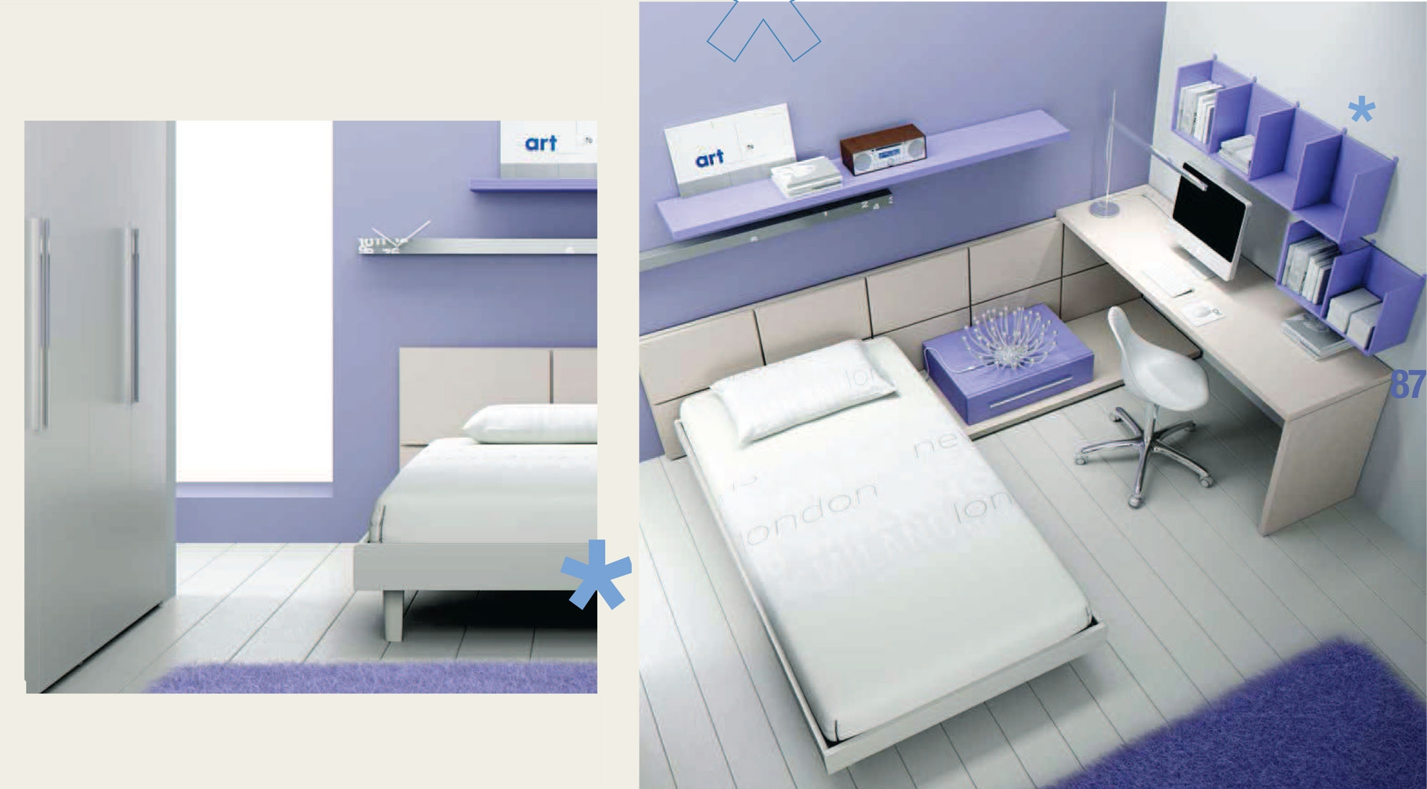 chambre ado avec lit ado 1 personne fun moretti compact so nuit. Black Bedroom Furniture Sets. Home Design Ideas