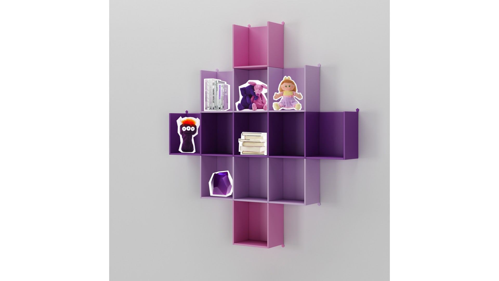 Meuble biblioth que ultra moderne color moretti - Meuble personnalisable ...