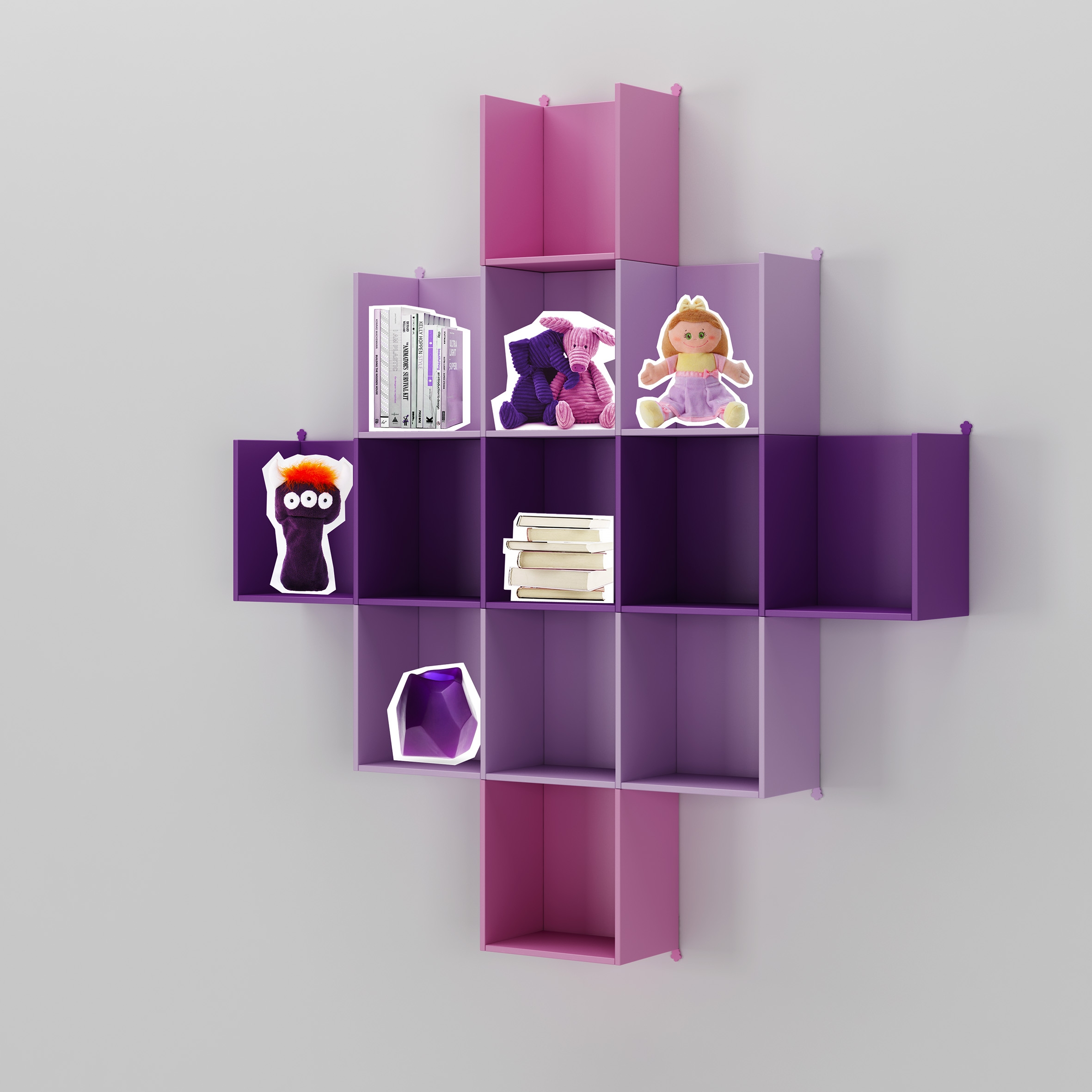 Meuble bibliothèque PERSONNALISABLE WX001 ultra design - MORETTI COMPACT