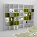 Bibliothèque design PERSONNALISABLE WA002 - MORETTI COMPACT