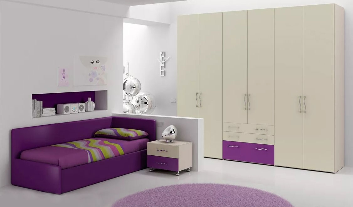 chambre ado avec lit canap lit gigogne moretti compact. Black Bedroom Furniture Sets. Home Design Ideas
