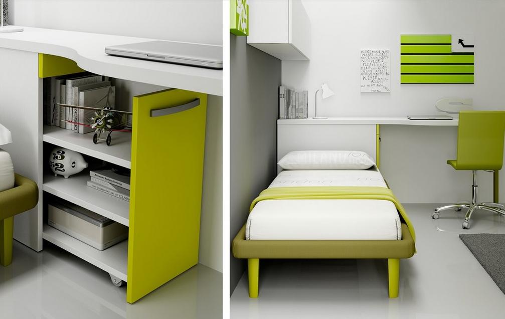 chambre enfant avec lit 1 personne fun moretti compact so nuit. Black Bedroom Furniture Sets. Home Design Ideas