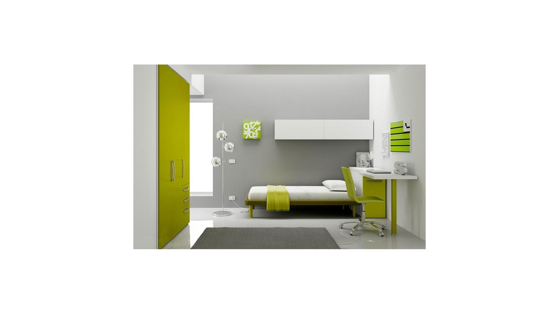 Chambre enfant avec lit 1 personne fun moretti compact for Chambre complete 1 personne