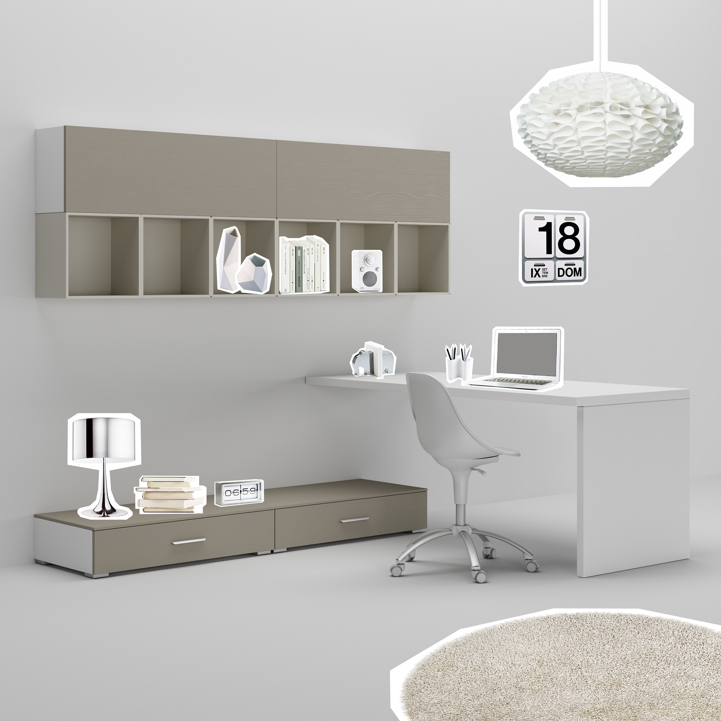 bureau ado avec jambage moderne pur moretti compact so nuit. Black Bedroom Furniture Sets. Home Design Ideas
