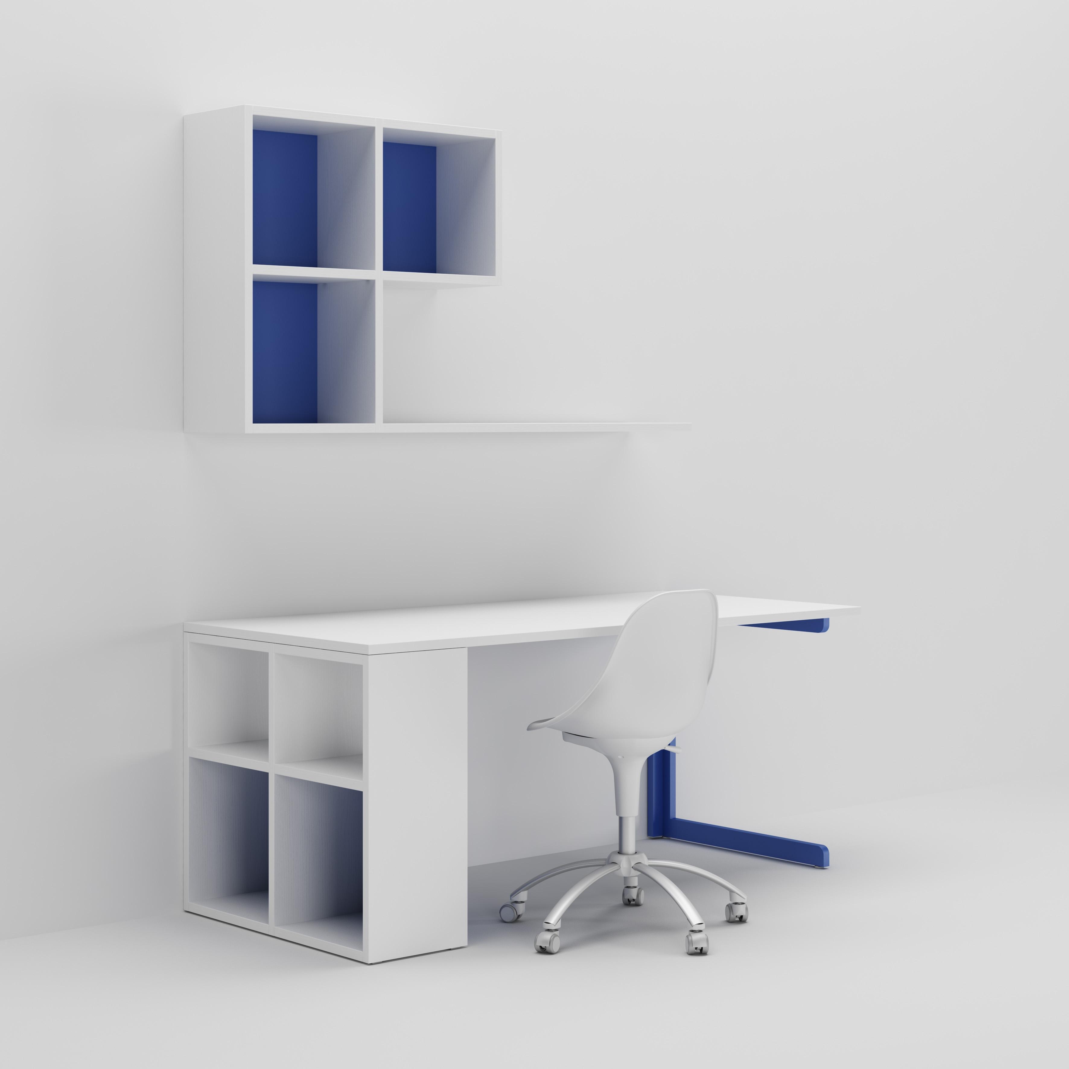 Bureau enfant avec niches avec fond color s moretti - Chambre enfant avec bureau ...