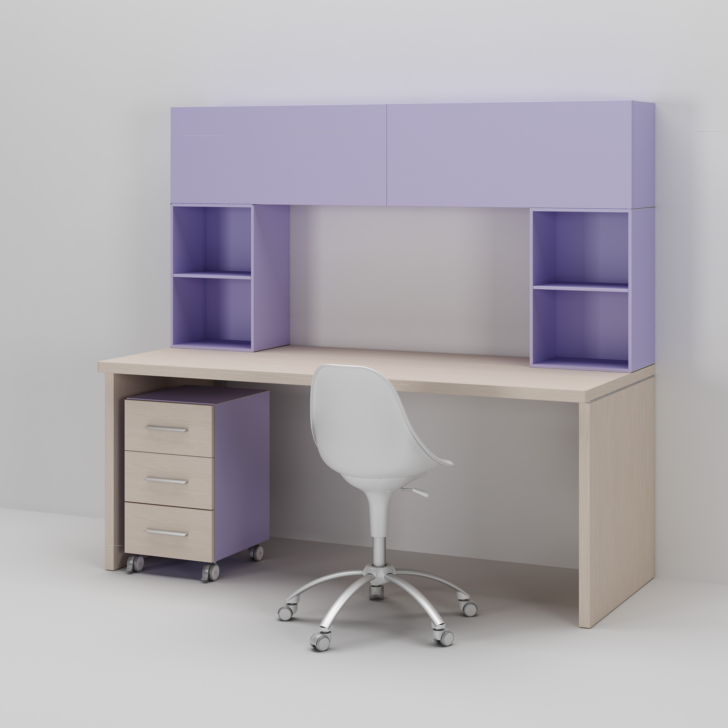 bureau enfant avec bloc tiroir sur roulette moretti compact so nuit. Black Bedroom Furniture Sets. Home Design Ideas
