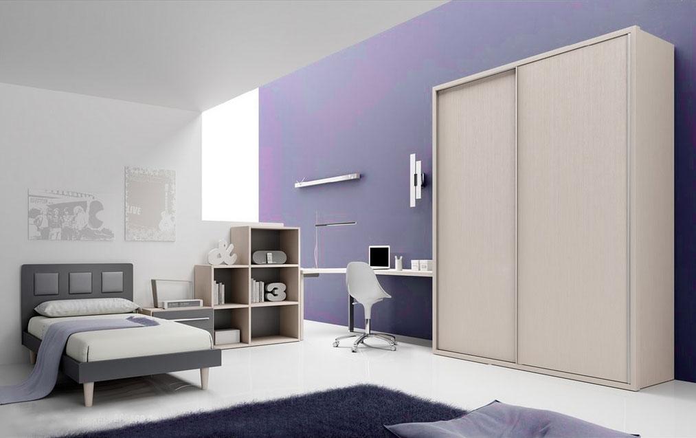 chambre enfant ado avec lit 1 personne moretti compact so nuit. Black Bedroom Furniture Sets. Home Design Ideas