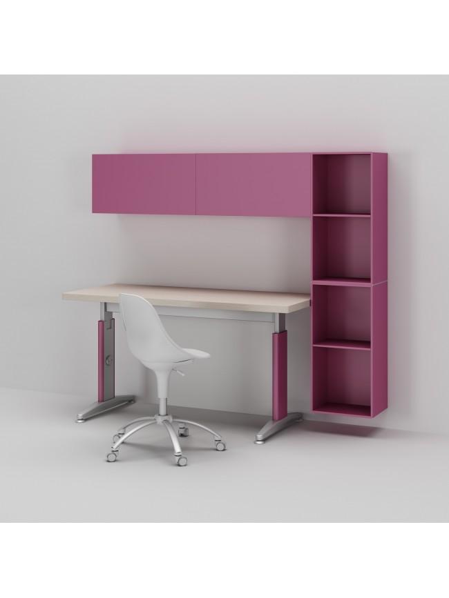 bureau enfant avec meuble de rangement et niche d co asoral so nuit. Black Bedroom Furniture Sets. Home Design Ideas