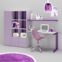 Bureau enfant PERSONNALISABLE WS013 avec armoire et tiroirs de rangement - MORETTI COMPACT