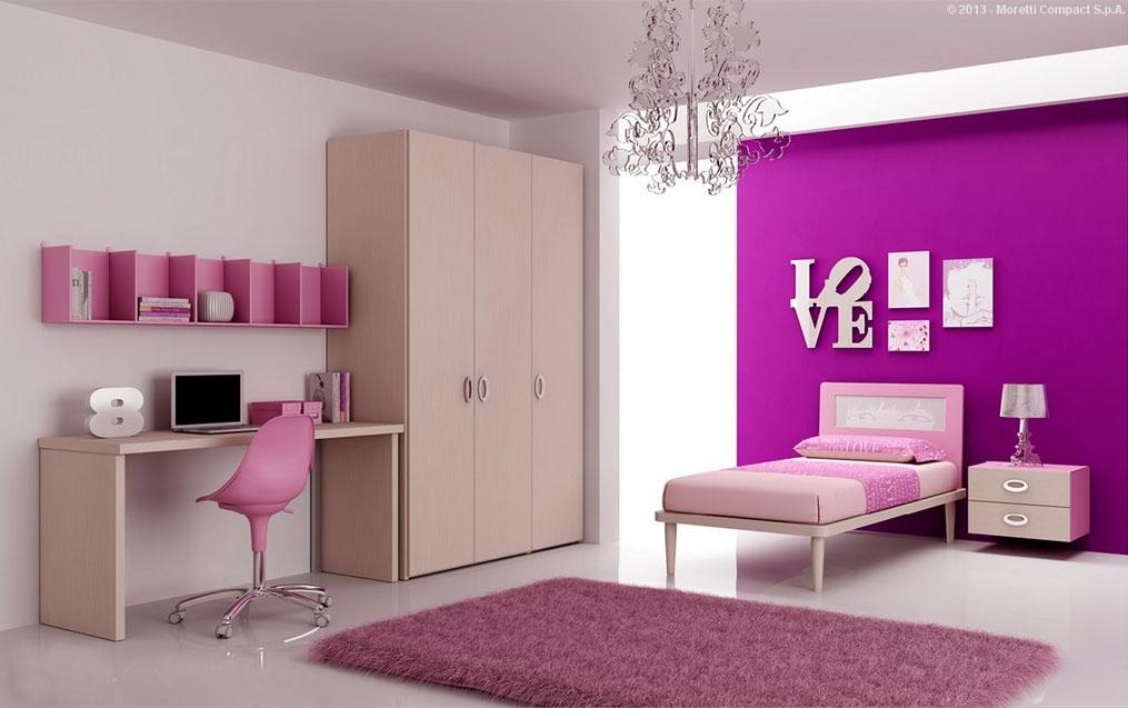 Chambre enfant PERSONNALISABLE BF49 avec lit 1 personne - MORETTI COMPACT