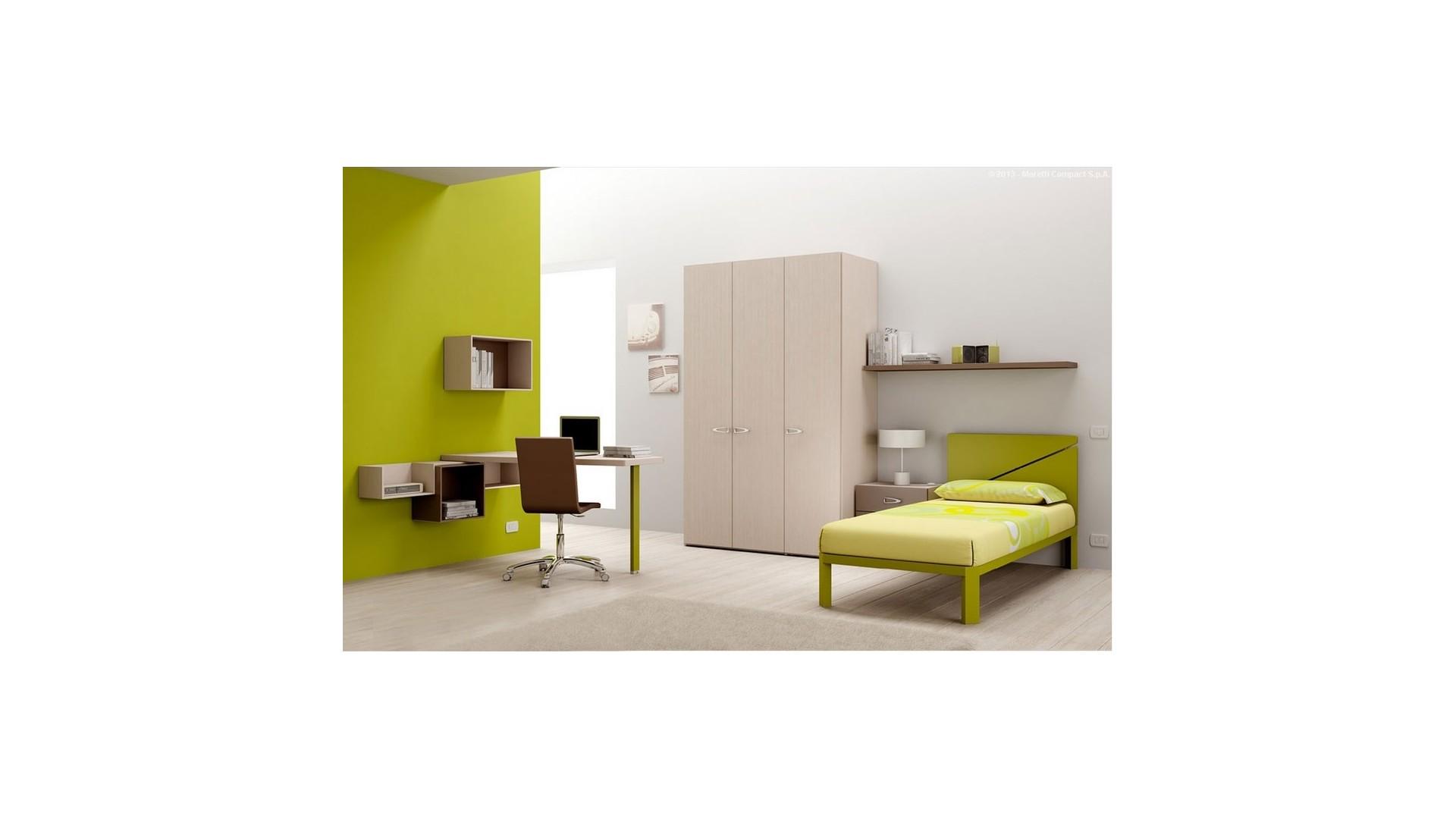 Chambre enfant PERSONNALISABLE BF51 avec lit 1 personne - MORETTI COMPACT
