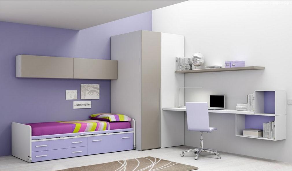 Chambre enfant PERSONNALISABLE BF53 lit surélevé - MORETTI COMPACT