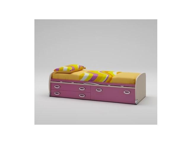 Lit enfant PERSONNALISABLE WP006 avec 2 tiroirs et 1 coffre sur roulettes - MORETTI COMPACT