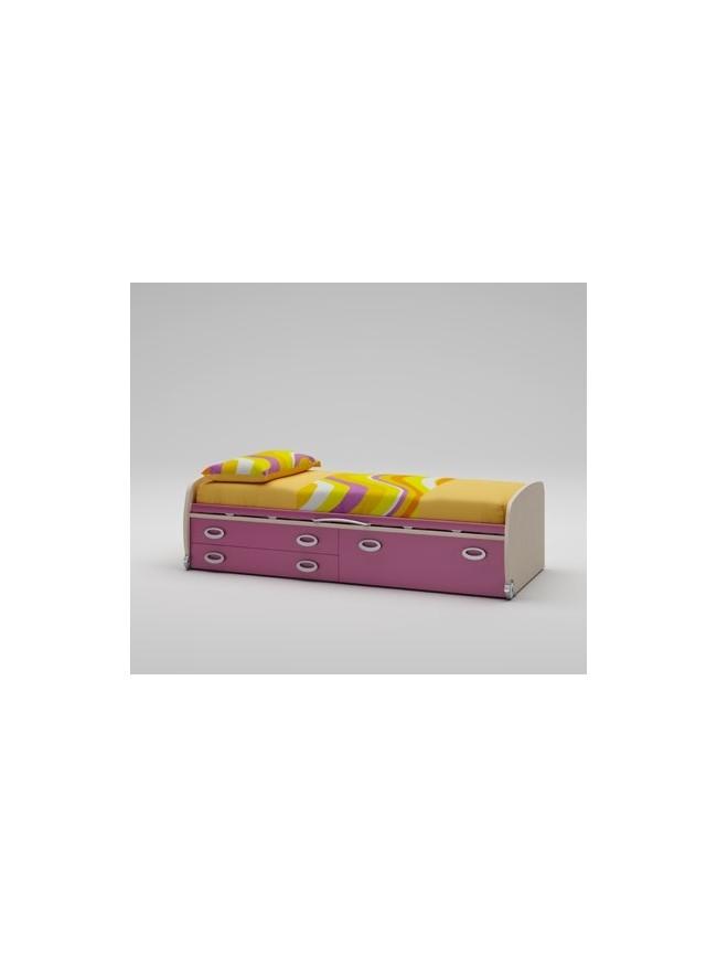 lit enfant avec tiroirs coffre profonds moretti. Black Bedroom Furniture Sets. Home Design Ideas
