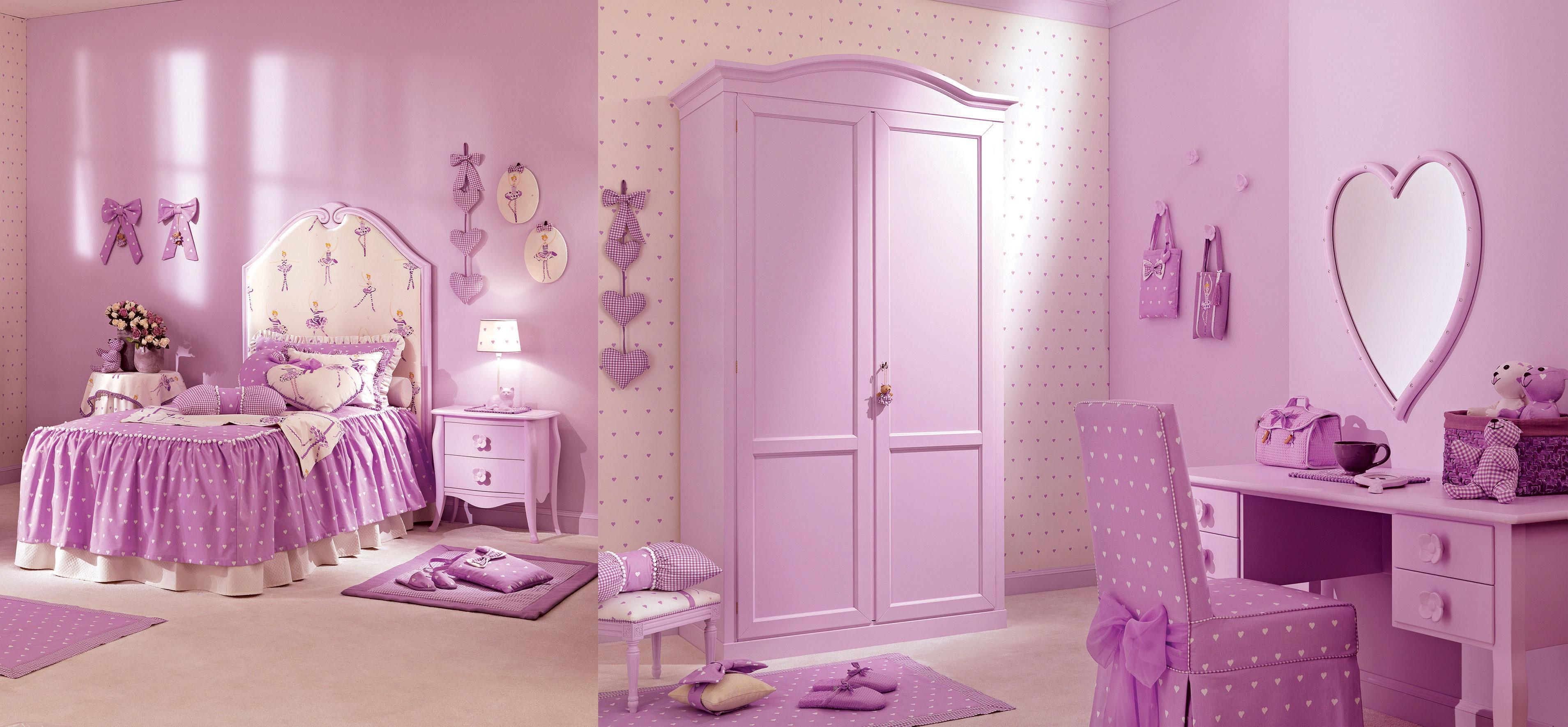 Lit fille juliette couleur lila petit coeur piermaria so nuit - Chambre fille couleur ...