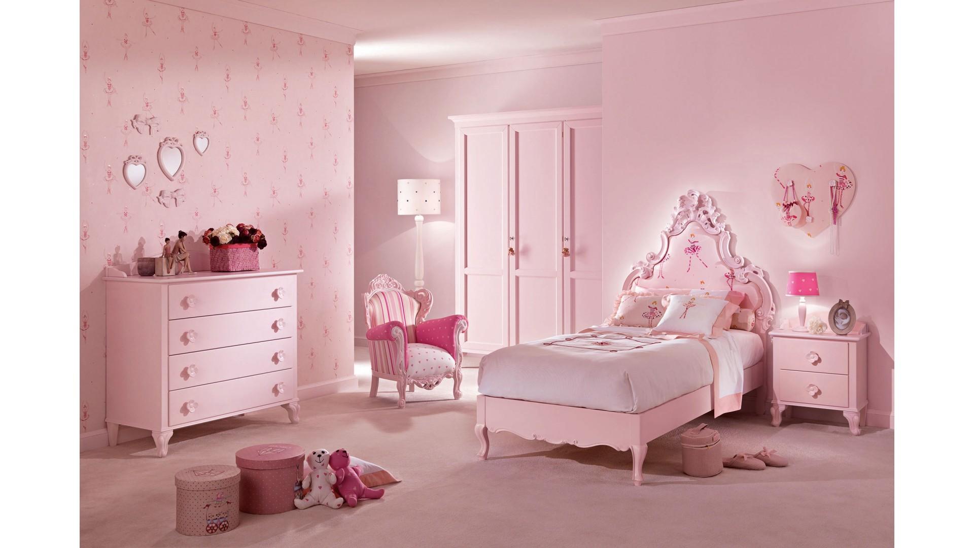 Lit princesse mod le c cile rose pastel piermaria so nuit for Chambre complete 1 personne