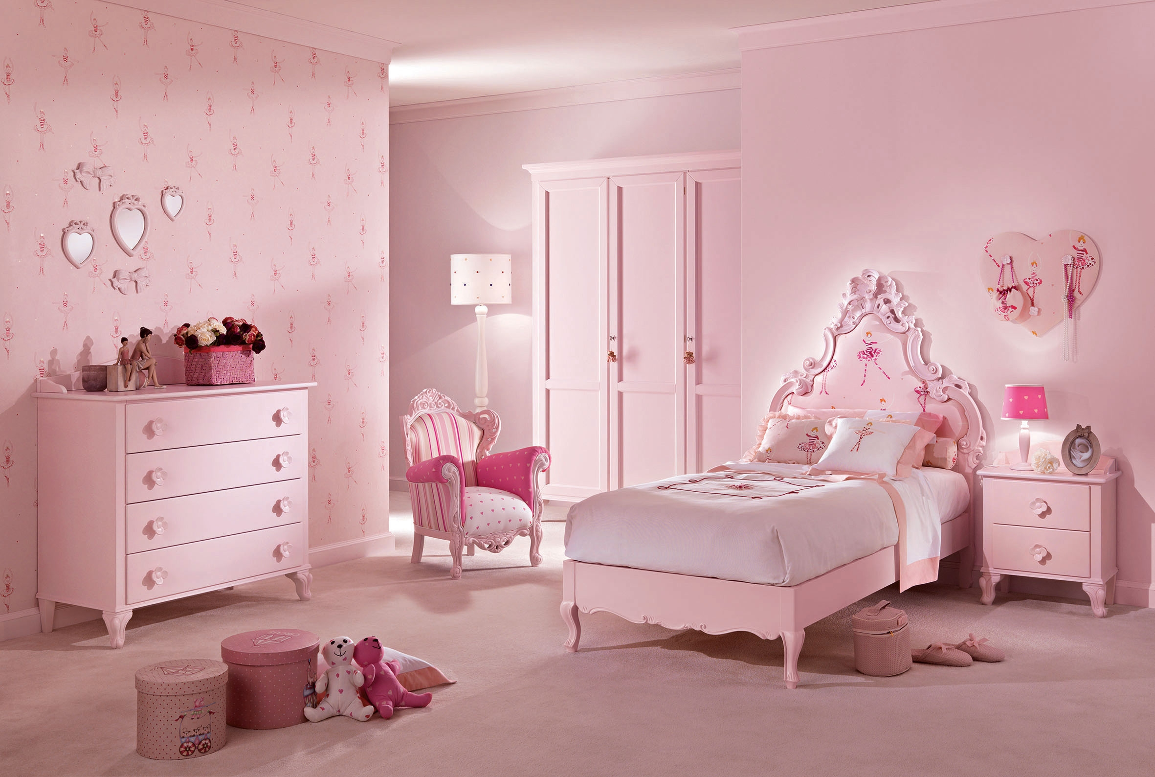 Lit princesse mod le c cile rose pastel piermaria so nuit for Modele chambre rose