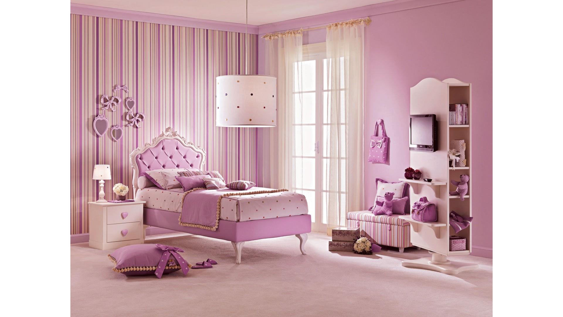 Lit fille avec t te de lit capitonn e lila piermaria for Tete de lit chambre ado