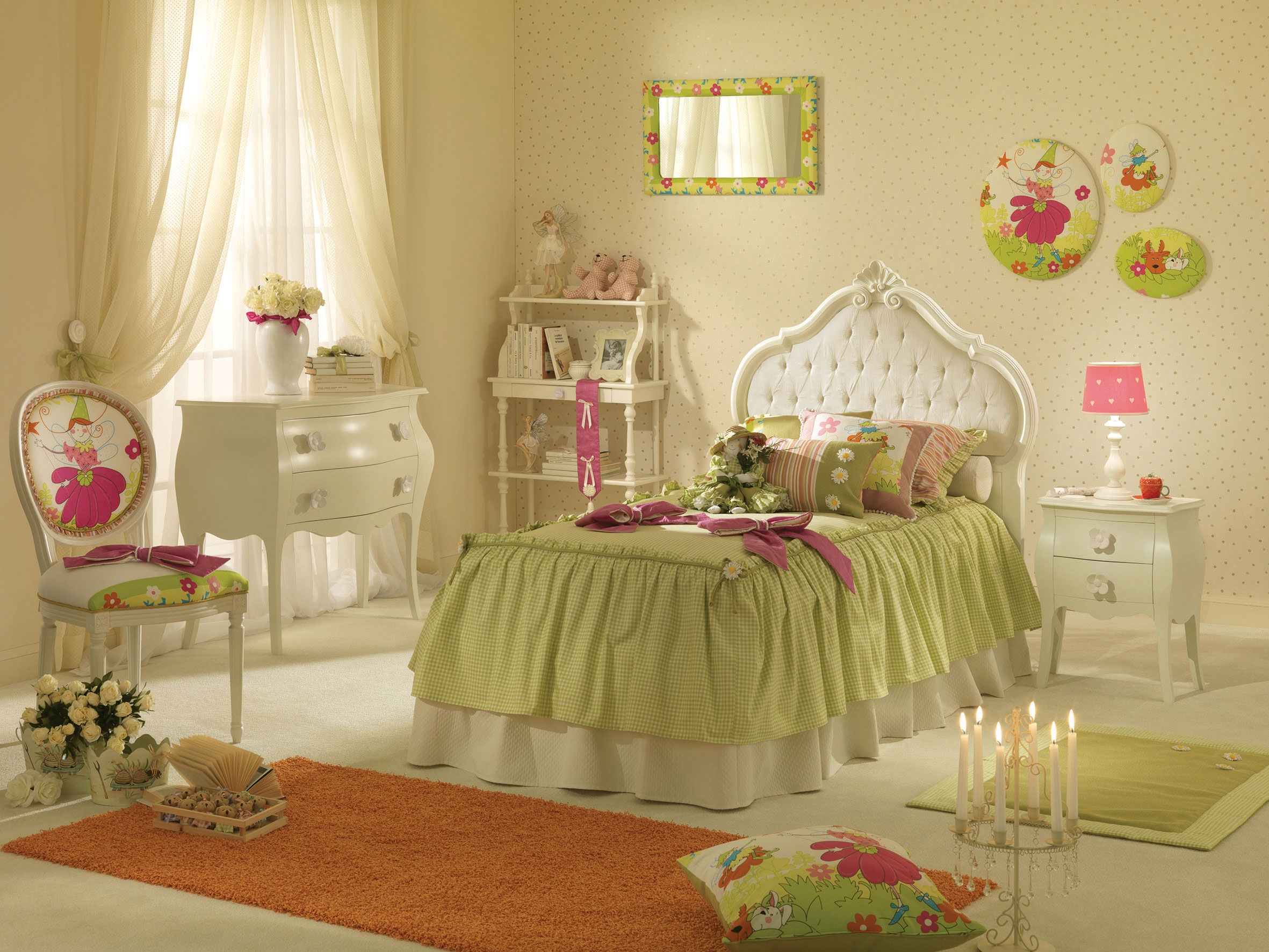 Lit fille capitonn avec couchage de 90x190 piermaria for But chambre enfant