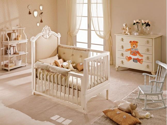 Berceau bébé personnalisable chambre Tiffany - PIERMARIA