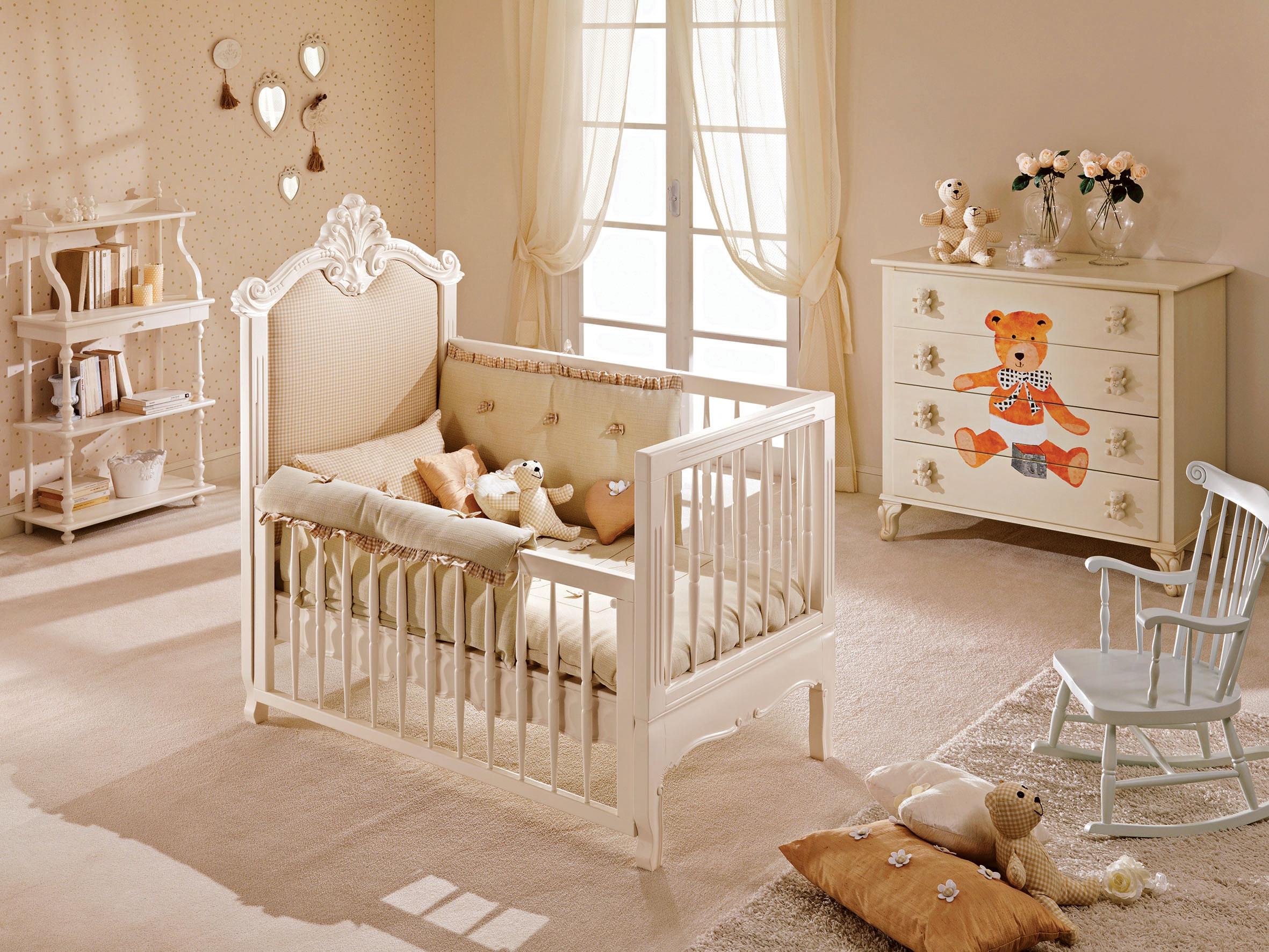 Berceau b b tiffany avec garde corps amovible piermaria so nuit - Chambre bebe autour de bebe ...