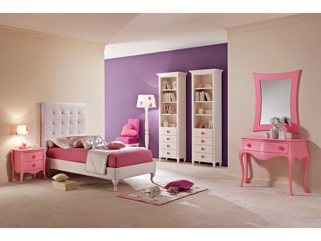 lit 1 personne avec t te de lit haut capitonn e. Black Bedroom Furniture Sets. Home Design Ideas