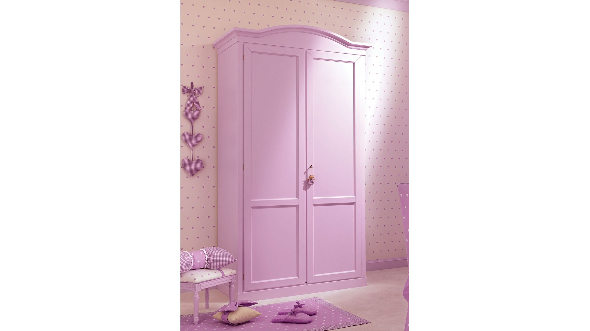 armoire penderie 2 portes battantes couleur lila piermaria so nuit. Black Bedroom Furniture Sets. Home Design Ideas
