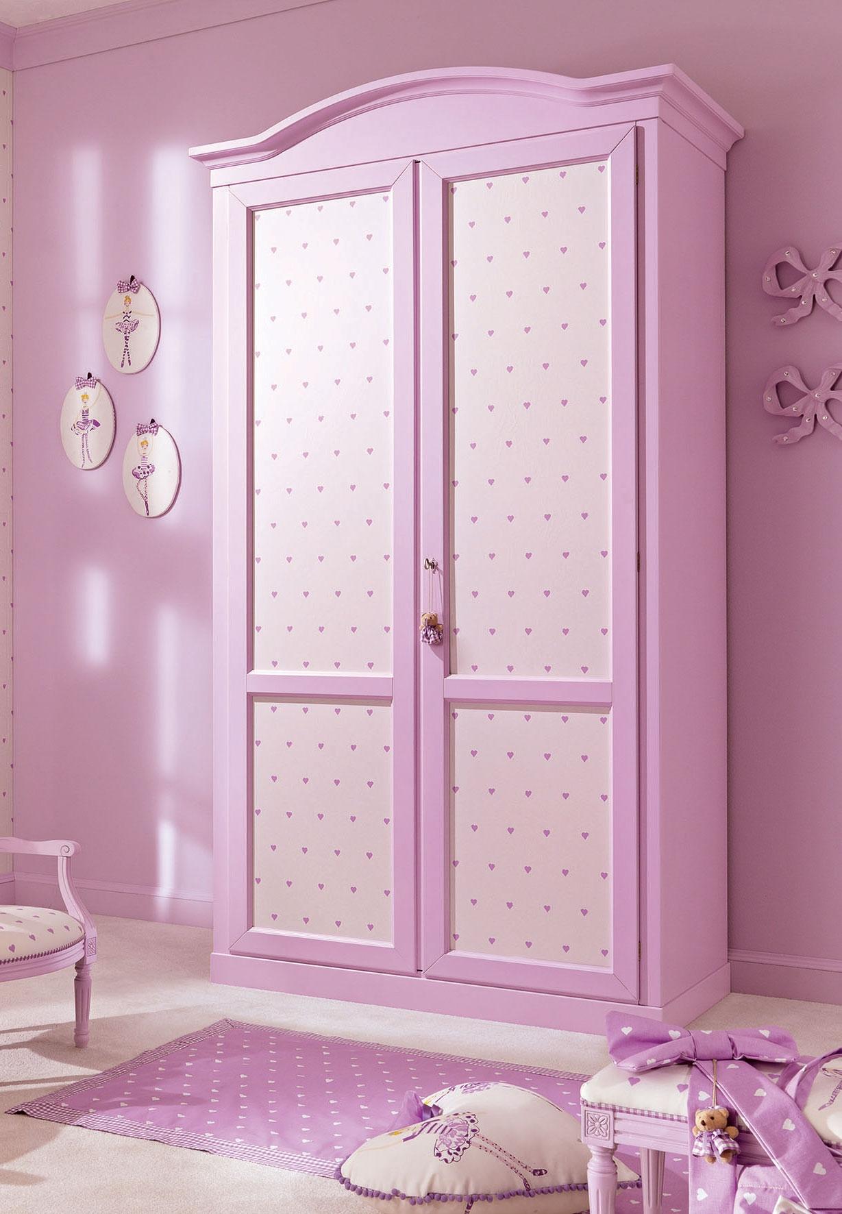 Armoire penderie 2 portes PERSONNALISABLE décor au choix - PIERMARIA